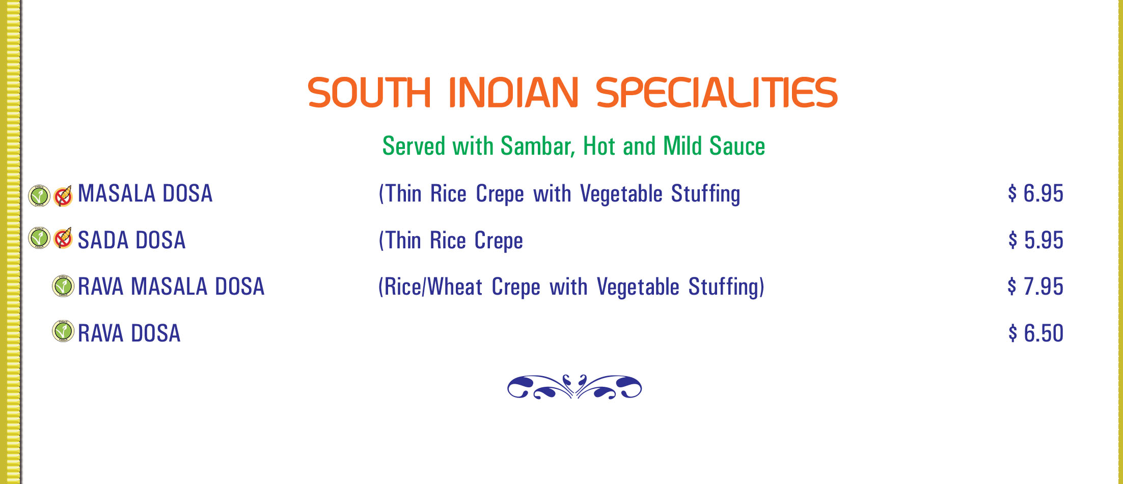 South Indian Specialities